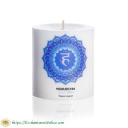 Ritual Candle Throat Chakra 3-Inch from Metaphysical Supply Store Brooklyn NY